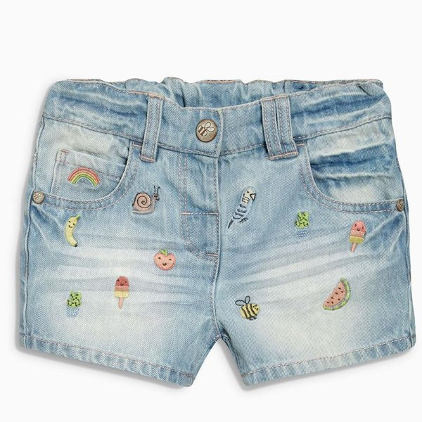 Short Jeans com Bordados