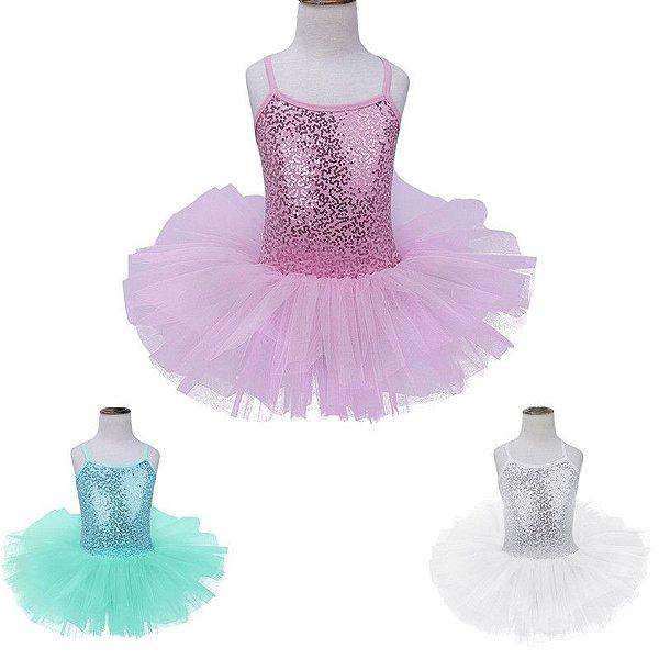 Vestido de Bailarina - 3 cores