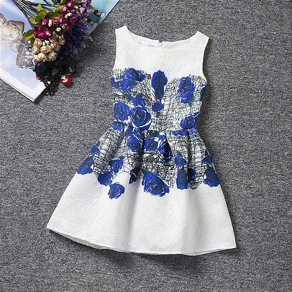 Vestido Jacquard Infantil - 19 cores