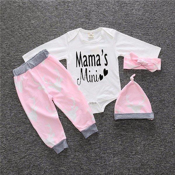 Conjunto Mama's Mini 4 peças