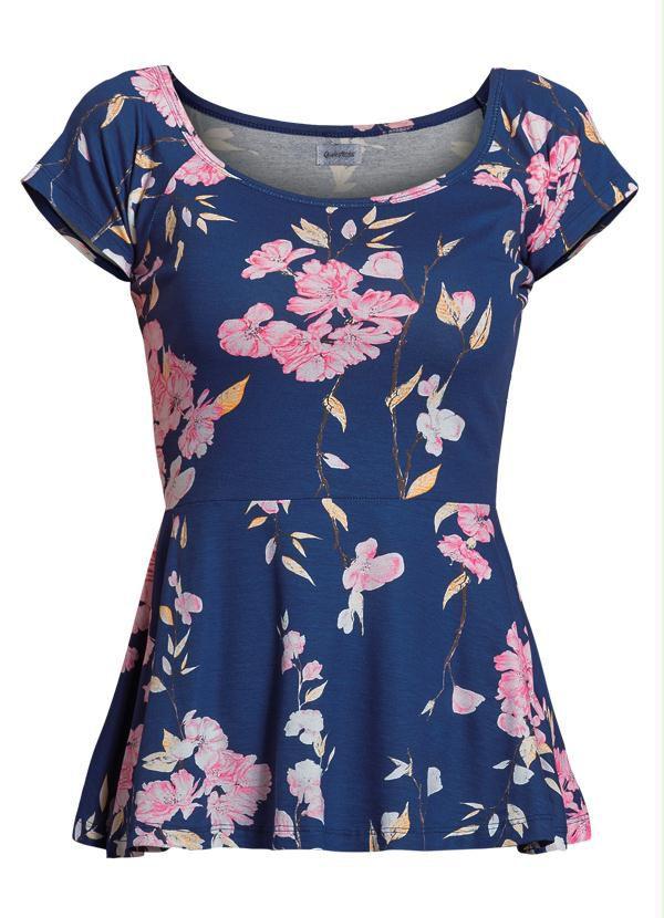 Blusa Peplum Floral