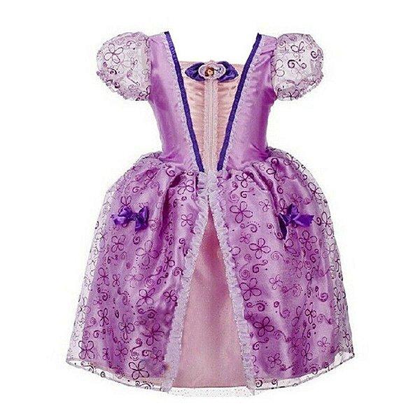 Vestido Lilás Princesa