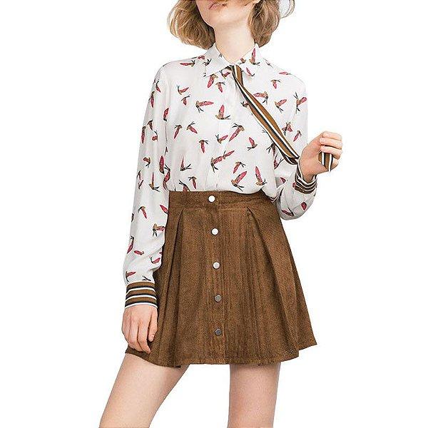 Camisa Pássaros com Laço