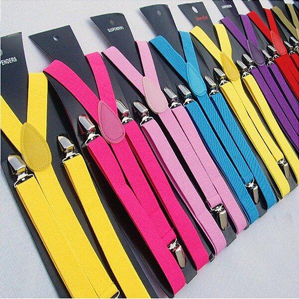 Suspensório Liso - 17 cores