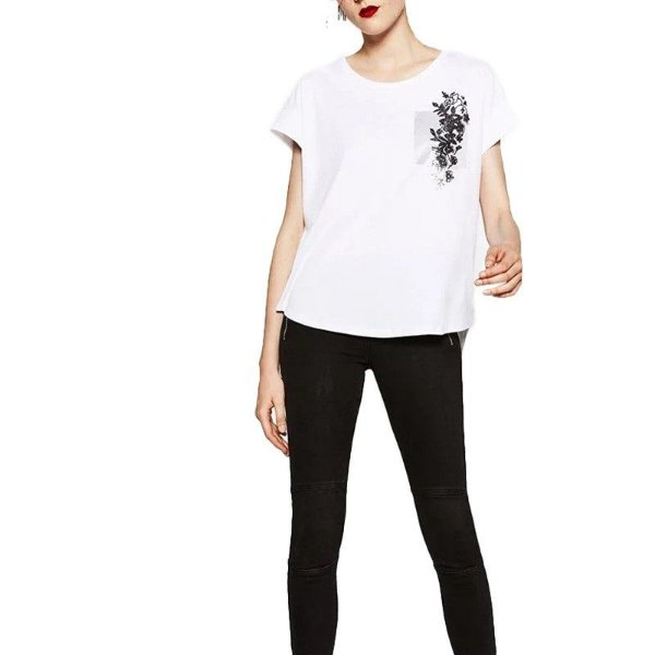 T-shirt Bolso Decorado - 3 cores