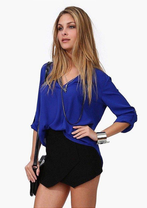 Camisa de Chiffon Lisa - 4 cores