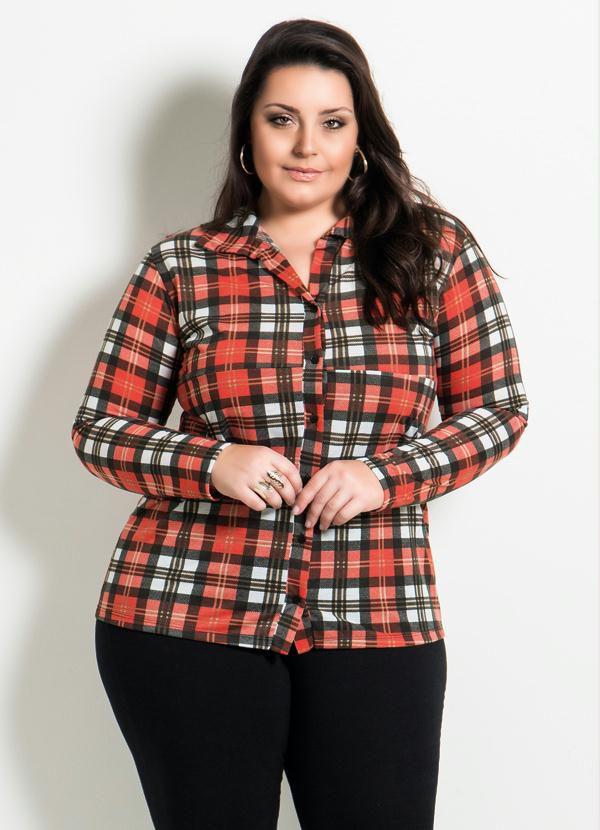 Camisa Xadrez Plus Size