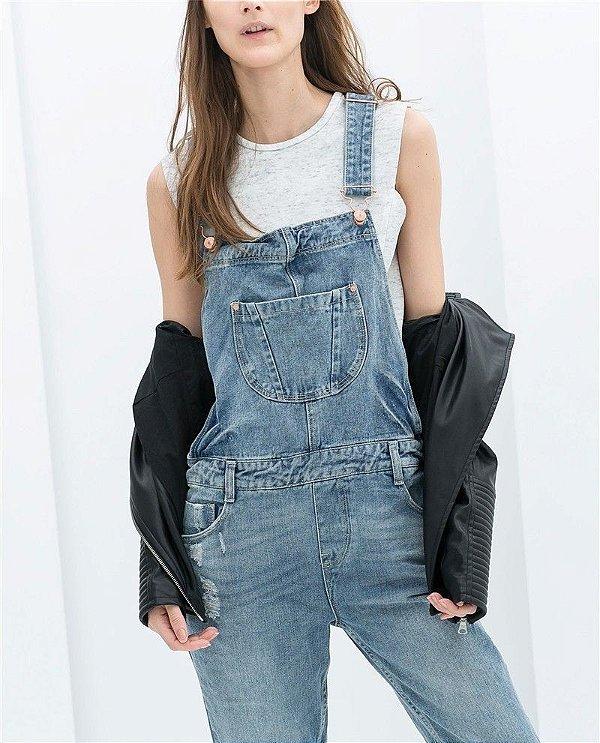 Macacão Jeans Lavado