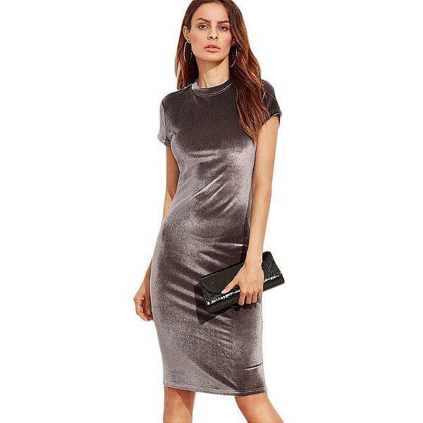 Vestido Midi de Veludo - 2 cores
