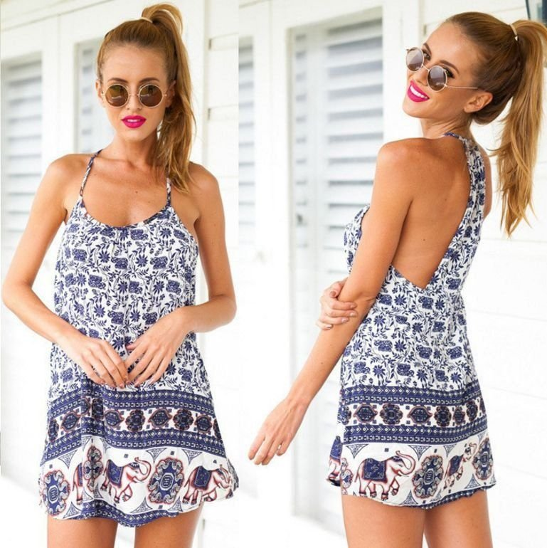 Vestido Hippie Chic - 3 cores