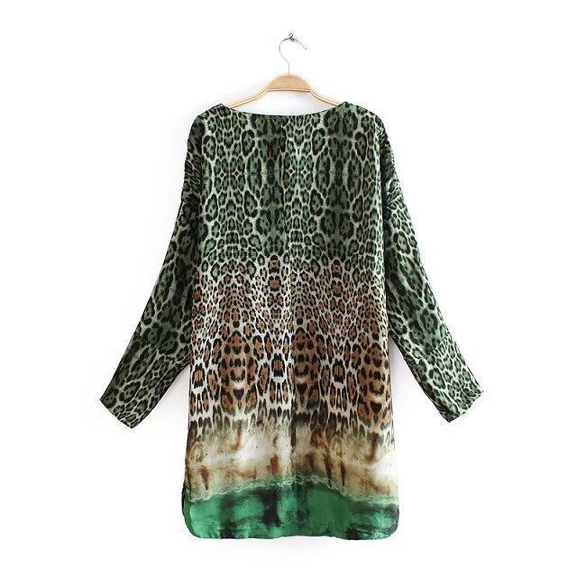 Vestido Verde Leopard Print