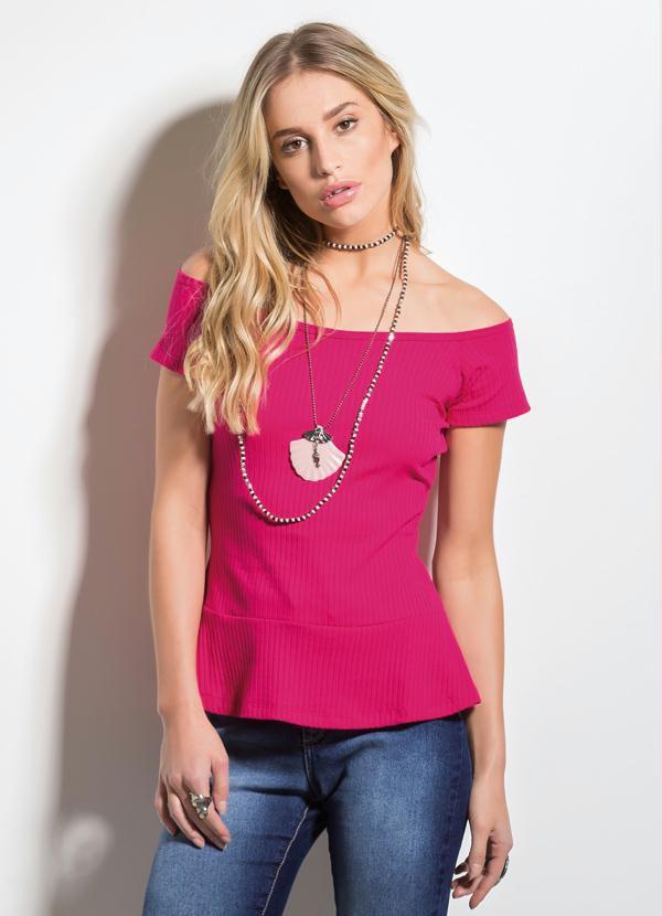 Blusa Decote Ombro a Ombro Pink
