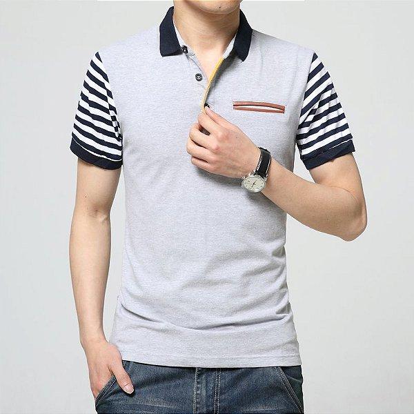 Camiseta Polo Manga Listrada - 3 cores