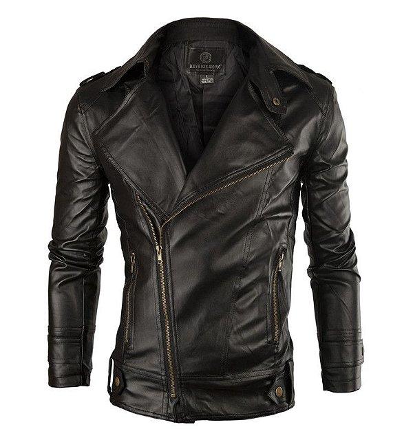Jaqueta de Couro Biker - 4 cores