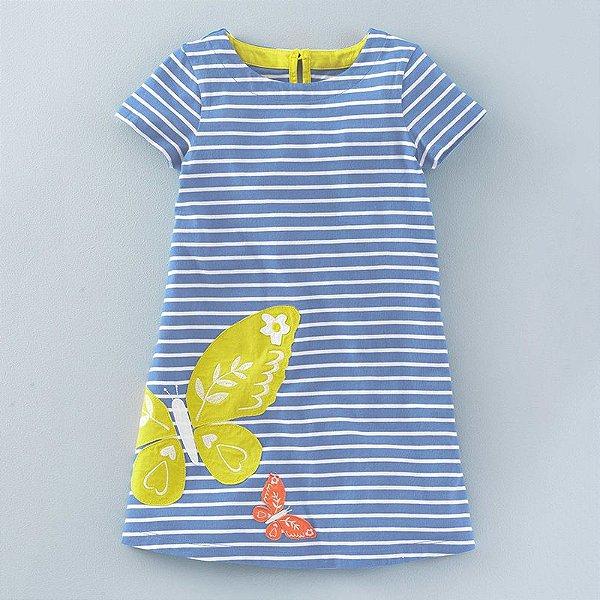 Vestido Manga Curta - 9 cores