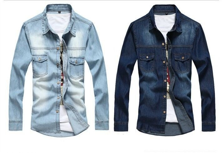 Camisa Jeans Masculina - 2 cores