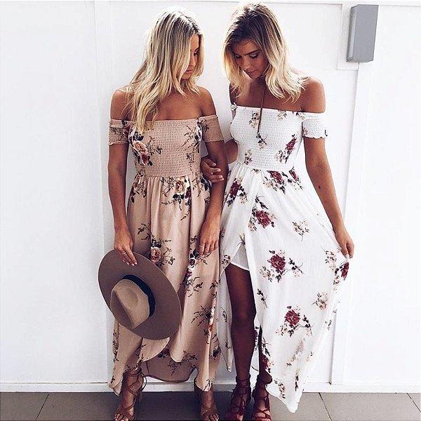 Vestido Gipsy Floral - 4 cores
