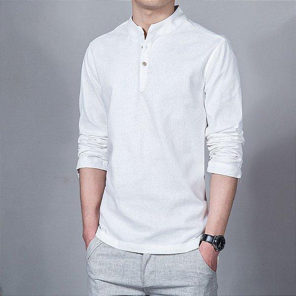 Camisa Mandarim - 6 cores