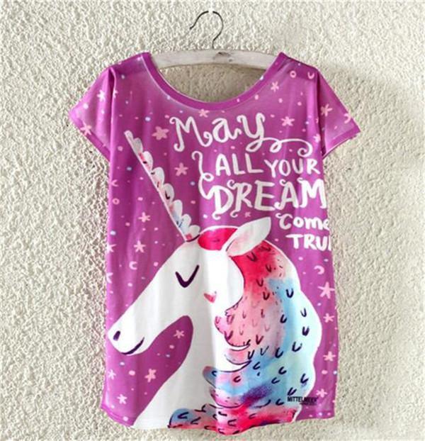 T-shirt Unicórnio
