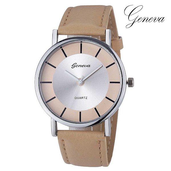 0483b62b76d Relógio Fashion Geneva - 6 cores - MANDORAS