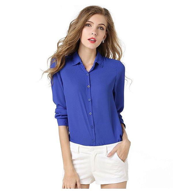 Camisa Chiffon - 5 cores