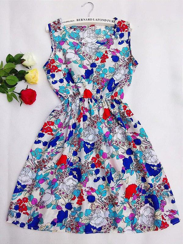 Vestido Acinturado Floral