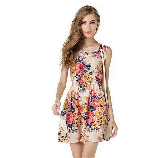 Vestido Acinturado Primavera - 2 cores