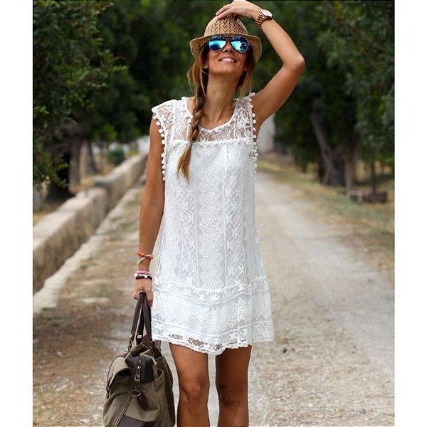 Vestido Rendado White