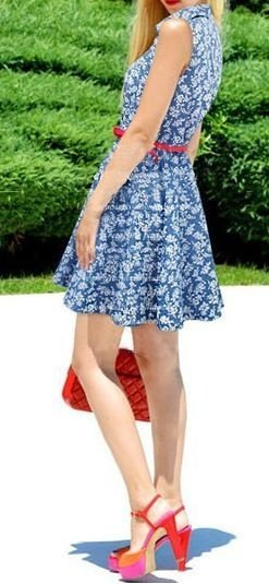 Vestido Jeans Floral