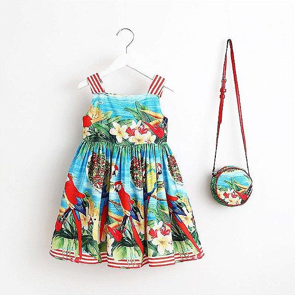 Vestido Estampado + Bolsa - 6 cores