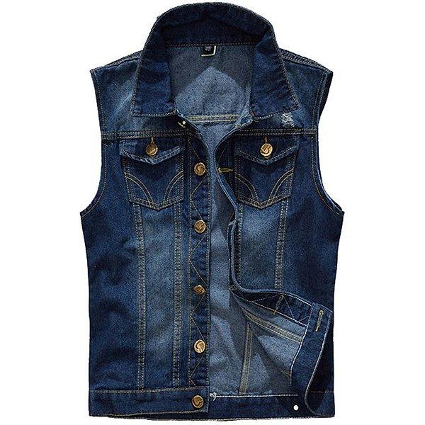 Colete Jeans Masculino