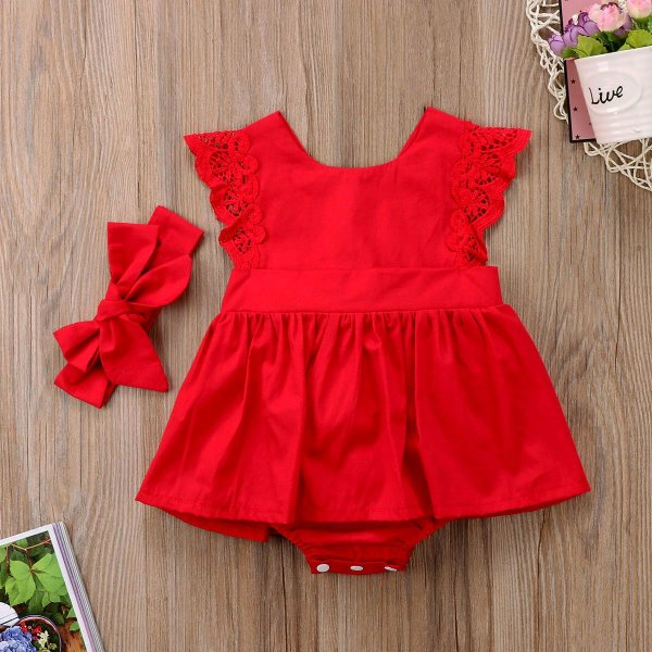 Body Dress Vermelho com Laço