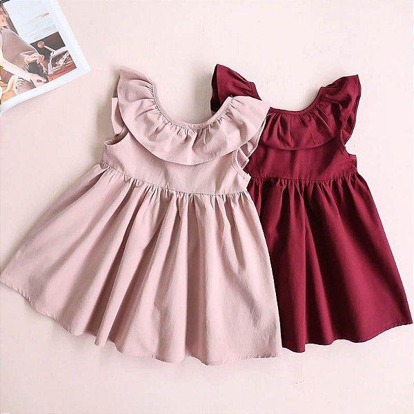 Vestido Liso - 2 cores