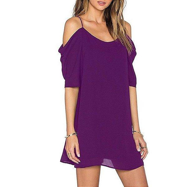 Vestido de Chiffon - 10 cores