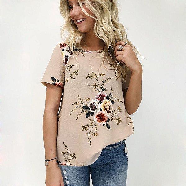 Blusa Bege Floral