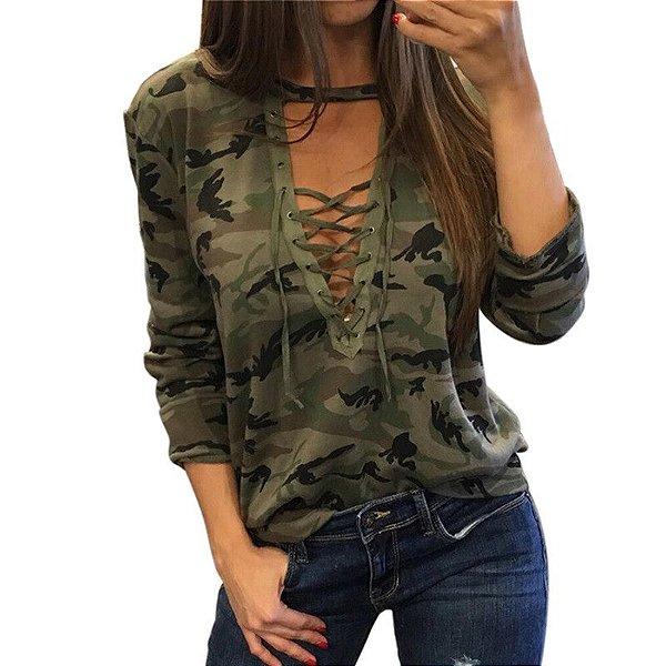 Blusa Camuflagem - 2 cores