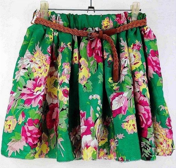 Saia Rodada Floral - 3 cores