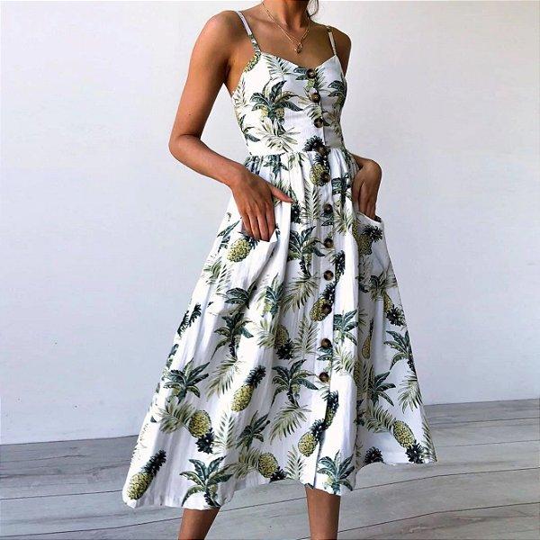 Vestido Midi Abacaxi