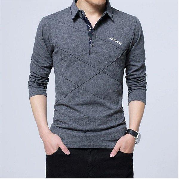 Camisa Polo Manga Longa - 6 cores