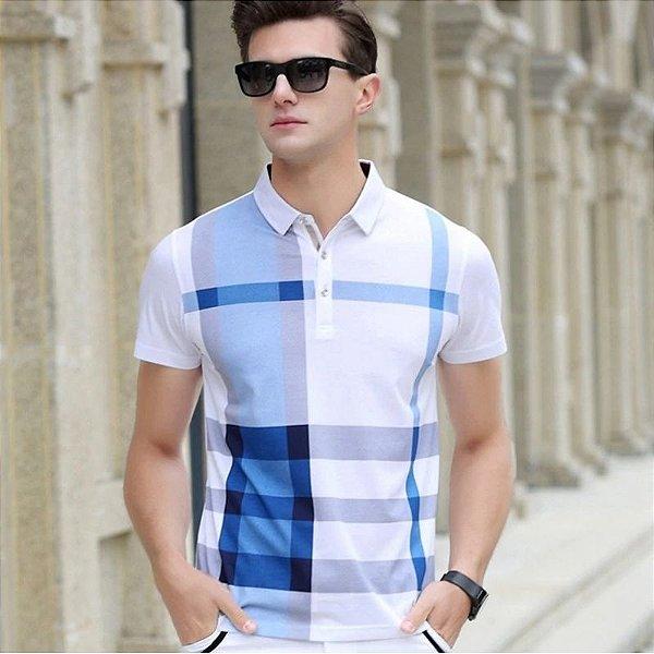 edf0699f6069f Camisa Polo Xadrez - 3 cores - MANDORAS