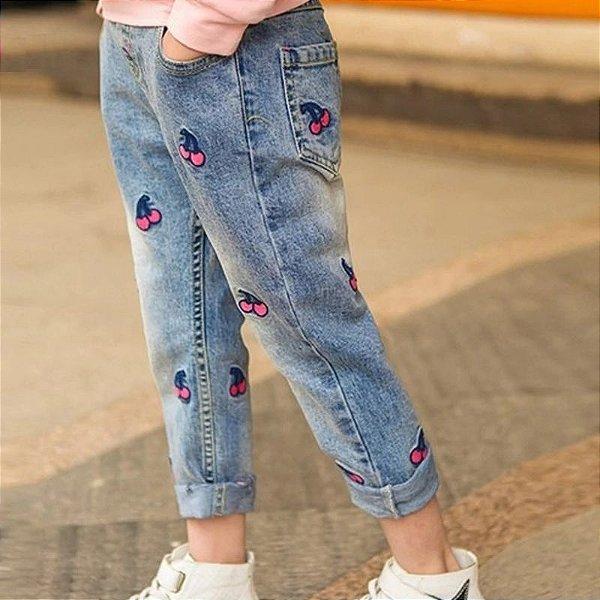 Calça Jeans Cerejinhas