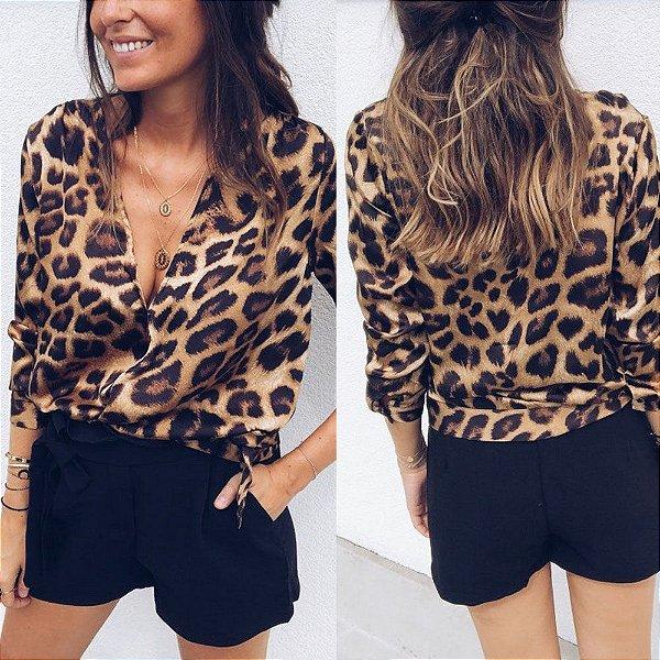 Blusa Leopard Print