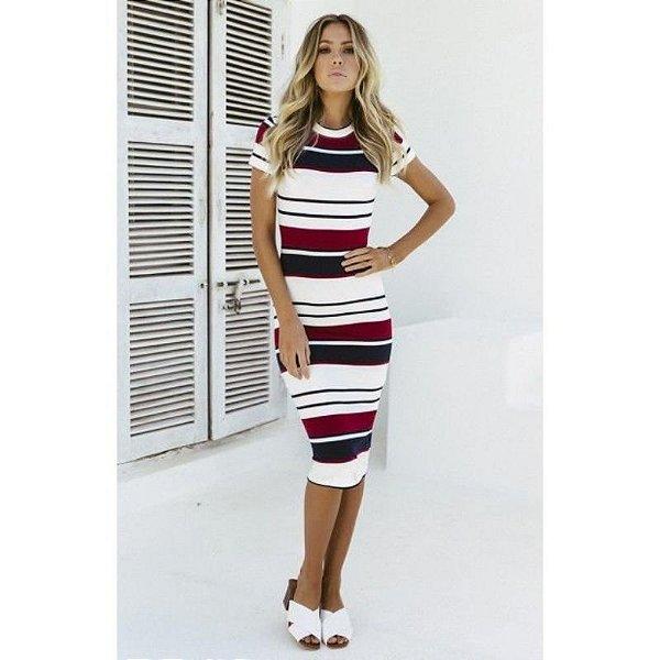 Vestido Malha Listrado - 2 cores