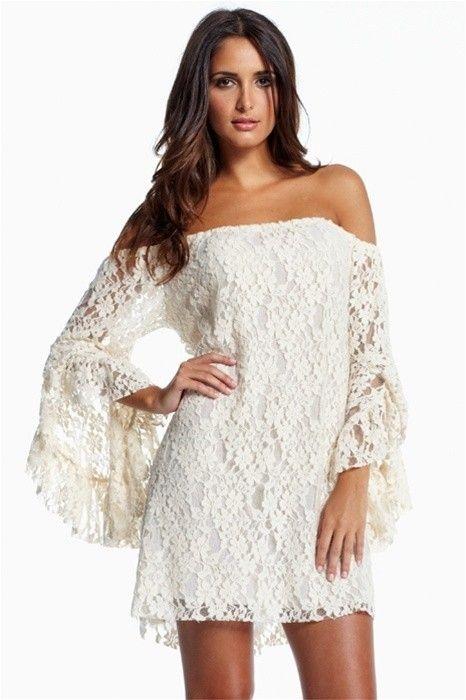 Vestido de Renda Off Shoulder - 2 cores