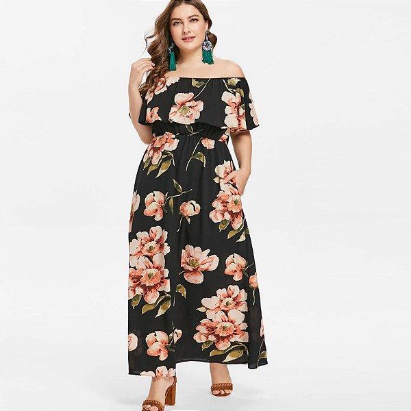 Vestido Acinturado Plus Size - 2 cores