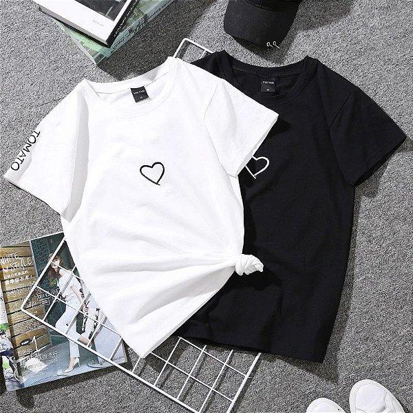 T-shirt Coração - 2 Cores