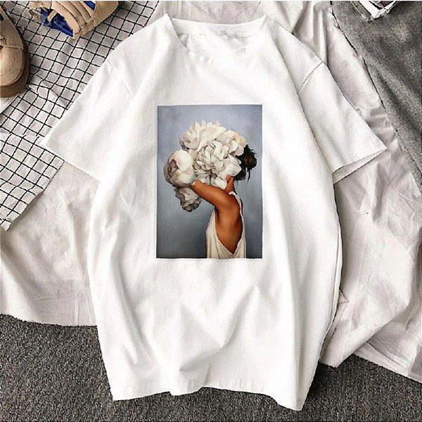 T-shirt Flowers - 2 Cores