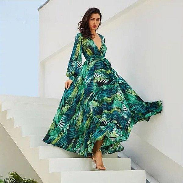 Vestido Verde Tropical