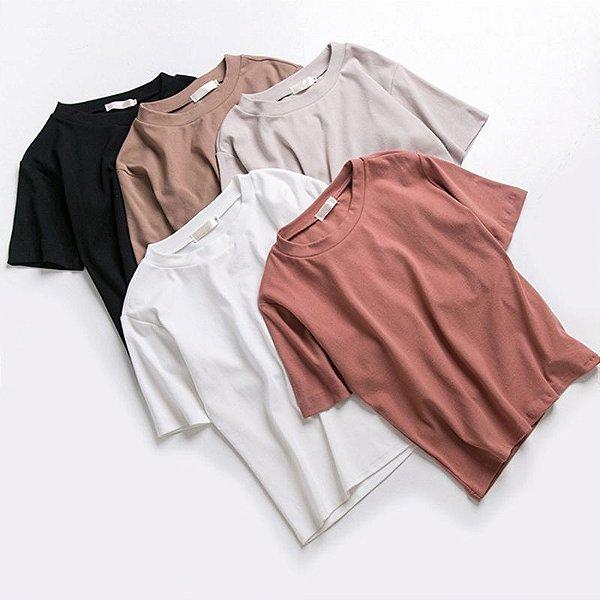 T-shirt Basic - 6 cores
