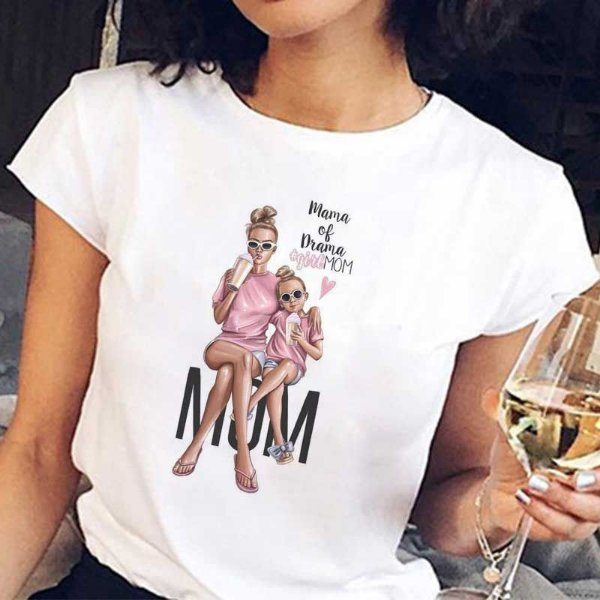 T-shirt Girl Mom - 2 cores